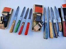 "SELECT 1 _7"" & 8"" DAMASCUS pocket folding Hunting/CAMPING knife"