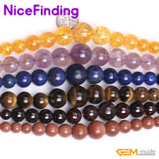 """6-14mm Natural Graduated Gemstone Beads For Jewelry Making Loose Beads Lots 15"""""""