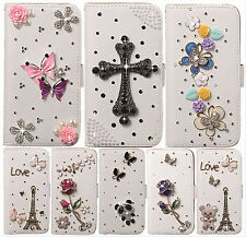 Hot Luxury Bling Crystal Diamond PU Leather Stand Case Cover For Sony Xperia Z2