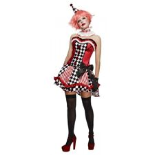 Harlequin Costume Adult Sexy Clown Halloween Fancy Dress Outfit