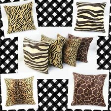 45x45cm Animal Pattern Faux Fur Decorative Throw Pillow Case Cushion Cover New