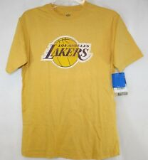NEW Kids Youth ADIDAS Los Angeles Lakers Basketball NBA Gold Vintage T-Shirt