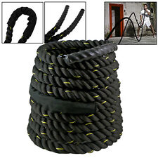 "1.5""/2"" Poly Dacron Battle Rope Workout Strength Training Undulation 30/40/50 ft"