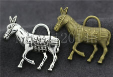 3/10/50pcs Antique Silver Lovely Donkey Jewelry Finding Charms Pendant 34x29mm