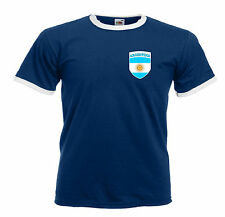 Argentina Retro Argentine Republic Football / Rugby Team T-Shirt - All Sizes