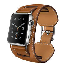 Unique Cuff Luxury Genuine Leather Chic Band Bracelet Watchband For Apple Watch