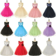 *NWT* Girls -Special Occasion Sequin Flower Girl Birthday Dresses Size 2-14