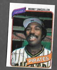 1980 Topps Baseball - Manny Sanguillen - Variation - Double Exposed POS banner