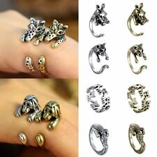 Punk Style Women Animal Silver Bronze Cuff Wrap Ring Jewelry Adjustable Party