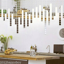 Unique Chic Home Mirror Tile Wall Sticker 3D Decal Mosaic Room Decor Stick On