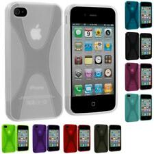 Color X-Line TPU Rubber Jelly Skin Case Cover for iPhone 4 4S 4G Accessory