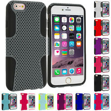 For Apple iPhone 6 Plus (5.5) Hybrid Mesh Shockproof Hard Soft Skin Case Cover