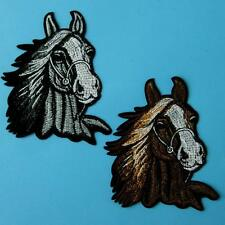 Horse Pony Iron on Sew Patch Cute Applique Badge Embroidered Animal Cute Biker