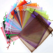 50 Organza Gift Bags Jewellery Christmas Packing Pouches Wedding Party Favour d