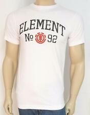 Element Skateboards Old Skool Tee Mens White 100% Cotton T-Shirt New NWT