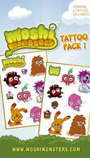 New Monsters Galore Moshi Monsters Temporary Tattoos