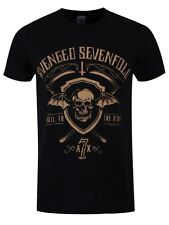 Avenged Sevenfold Shield and Sickle Mens Black A7X T-Shirt