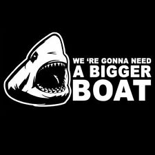 WE 'RE GONNA NEED A BIGGER BOAT (jaws vintage poster dvd cd movie shark) T-SHIRT