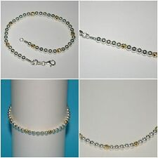 3 pcs LOTS 4mm Sterling Silver & Gold Filled Beads Bracelets Anklets Necklaces