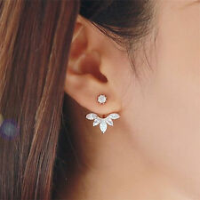 2Pairs New Fashion Women Lady Elegant Crystal Rhinestone Drop Ear Stud Earrings