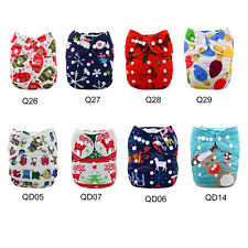U Pick ALVABaby Christmas Gift Adjustable Reusable Cloth Diapers Nappies+1Insert