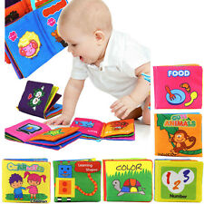 Kids Baby Educational Toy Intelligence Development Cloth Cognize Book AS