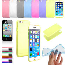 "Stock New 4.7"" Ultra Thin Slim Crystal Soft TPU Shell Cover Case Skin iPhone 6"
