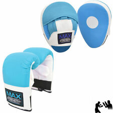 MMA Boxing Gloves and Focus Pads set Hook Jab Training Punch Bag Curved Mitts