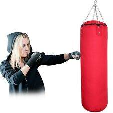 0.9m Heavy Filled Boxing Punch Bag MMA Muay Thai Pad Karate Training Martial