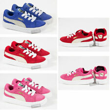 INFANTS TODDLERS PUMA LEATHER SUEDE CASUAL LACE LO TOP SKATE SHOES TRAINERS SIZE