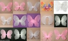 SMALL NET, GLITTER, BEAD FAIRY, BUTTERFLY WINGS, PINK, WHITE PARTY, DRESS UP