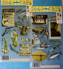 NEW HUNTING or FISHING COLLAGE Vintage * Your Choice * ROYAL LANGNICKEL Rub-Ons