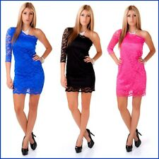 Ladies Party Cocktail Dress Mini One Shoulder With Lace S / M / Diesel