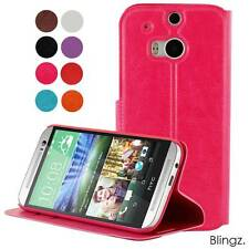 HTC One M8 PU Leather Case Stand Flip Wallet Slim Cover