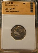 1968-D~~SLABBED UNC~~JEFFERSON  NICKEL~~PERFECT COIN