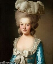 Alexander Roslin,Portrait of a French lady Handmade Oil Painting repro