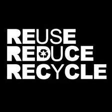 REUSE REDUSE RECYCLE (earth day activist bio alf biker eco bike ecology) T-SHIRT