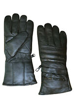 MENS LEATHER INSULATED WINTER RAIN COVER MOTORCYCLE BIKER GLOVES NEW ALL SIZES