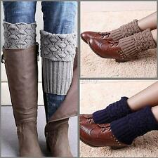 Womens Ladies Winter Leg Warmer Crochet Boot Cuffs Shell Knit Toppers Boot Socks