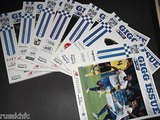 2015/16 - BURY HOME PROGRAMMES CHOOSE FROM