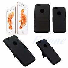 For iPhone 6 6S 6G Plus Hybrid Rugged Hard Case Cover w/ Belt Clip Holster Stand