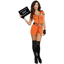 Prisoner Costume Sexy Convict Outfit Halloween Fancy Dress