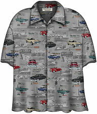 Mercury Classic Cars Cougar Comet Montclair Hawaiian Camp Shirt by David Carey