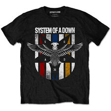 Official SYSTEM OF A DOWN Eagle Colours T-shirt Black NEW All Sizes Serj Tankian