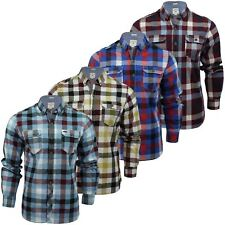 Mens Check Shirt by Lee Cooper 'Hadleigh' Long Sleeved
