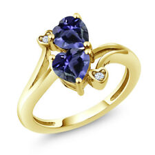 1.19 Ct Heart Shape Blue Iolite 14K Yellow Gold Ring