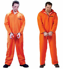 Got Busted Penitentiary! Adult Orange Prisoner Costume Jail Inmate Convict fnt