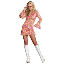 Go Go Girl Costume Adult 60s or 70s gogo Dancer Hippie Halloween Fancy Dress