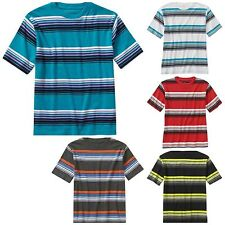 New Faded Glory Boys Short Sleeve Stripe Crew Tee  Top T-Shirt Free Shipping
