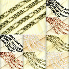 2m/PC 6.56 feet Curb Unfinished Chains /link Iron Jewelry 5.9x4.5x1.1mm